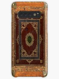 old engraved decorated leather book cover by joolya