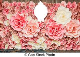 Paper Flower Background Blurred Pink Paper Flower Background With Bokeh