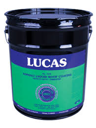 Liquid Asphalt Lucas 724 Asphalt Liquid Roof Coating Fibrated