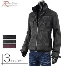 military jacket m65 riders jacket men pu leather synthetic leather g280823 07
