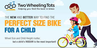size bike for a child infographic