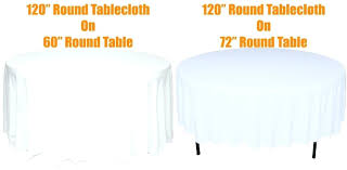what size tablecloth for 5 foot round table what size tablecloth for inch round table com