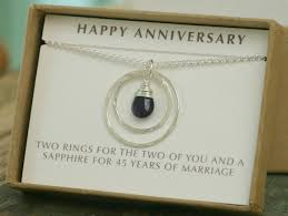 45th anniversary gift 45th wedding anniversary gift sapphire wedding jewelry wedding anniversary gift for her celeste