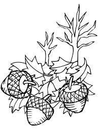 Small Picture Autumn Leaves Coloring Page Acorns Fall Leaves