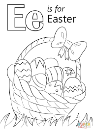 Small Picture Letter E is for Easter coloring page Free Printable Coloring Pages