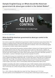 premiumessays net sample english essay on what should the american go  sample english essay on what should the american government do about gun control in the united