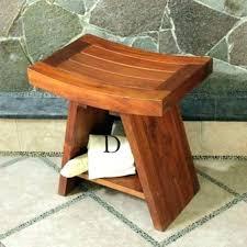 teak wood shower bench plans corner seats wooden seat bathrooms drop dead gorgeous wo