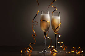 Image: Two Champagne Flutes and Ribbon