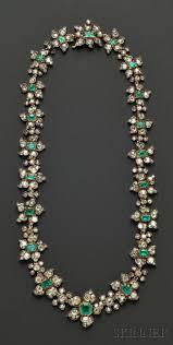 description antique emerald and diamond necklace