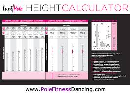 X Pole Height Chart Lupit Classic G2 Dance Pole The Pole Fitness Dancing Shop