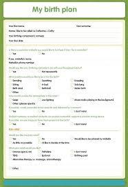 Sample Natural Birth Plan Simple Birth Plan Template Uk Example Birth Plan Template