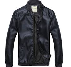 spring and autumn thin men s baseball collar motorcycle leather jacket men intl