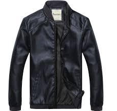 spring and autumn thin men s baseball collar motorcycle leather jacket men intl