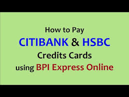 credits cards using bpi express