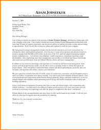 Technical Manager Cover Letter Civil Engineering Project Manager Cover Letter Sample Resume