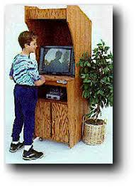 Wooden Game Plans Video Game Cabinet Woodworking Plan 78