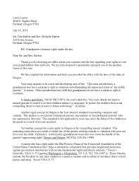 Child Custody Letter Sample Letter Writing Sample For Grandparent Custody Possession