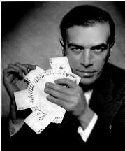 His passion was the demonstration of card tricks. In 1938, he was selected as one of the 10 living Stars of Cards (beside among others, Leipzig, Rosini, ... - Scarne_JohnB