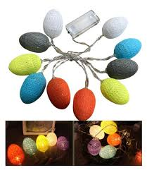 Easter Lights Amazon Amazon Com Aision 6ft Easter Led Egg String Lights With 10
