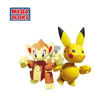 MEGA BLOKS Pokemon Series Khối Xây Dựng Ít Ngọn Lửa Khỉ Và Pikachu Đối Đầu  Bộ Đồ Chơi Trẻ Em Quà Tặng Sinh Nhật GCN12 Blocks
