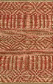 rugsville diamond stripes red beige jute kilims 13633 rug