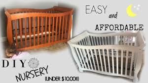 painted baby furniture. Diy Baby Furniture. Nursery//crib On A Budget!! Under $10.00 Painted Furniture T