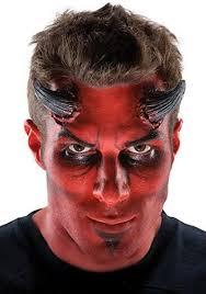 latex devil horns costume makeup prosthetics