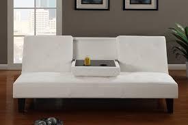 Brilliant White Futon Sofa Bed Leather E In Design