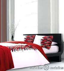 luxury cotton red black white duvet cover white luxury duvet covers