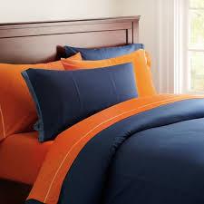 classic metro duvet cover pillowcase pbteen navy blue orange