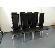 high back dining chairs melbourne. a good set of eight contemporary black leather high back dining chairs melbourne i