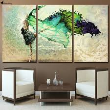 decoration 3 piece canvas art wish 3pc modern abstract huge wall art oil painting on on wall art pieces decorating with 3 piece canvas art beautiful girl dancing painting posters and