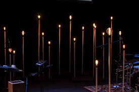 Edison Light Stand Beacon Poles Church Stage Design Ideas Scenic Sets And