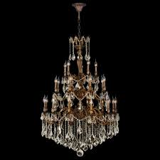 versailles collection 25 light french gold finish and golden teak crystal chandelier 36 d x 50