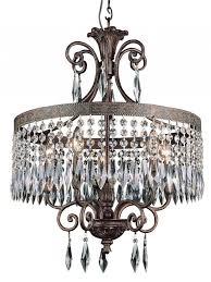 interior artistic drum chandelier bronze with silver crystals decoration drum chandelier for stunning interior