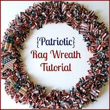 patriotic rag wreath tutorial