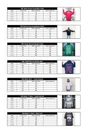 Y F Youth Revival T Shirt Size Chart Help Support