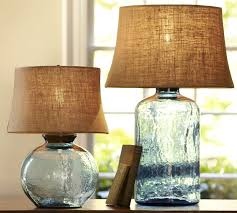colored glass lighting. Plain Lighting View In Gallery Colored Glass Table Lamps Pottery Barn Clift 1 Thumb  630x567 9986 Colored Glass Table Lamps From And Lighting