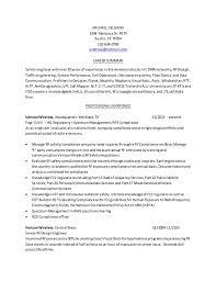 Resume RF Engineer Baseline 02162015. MICHAEL DELGADO 1304 Mariposa Dr.  #175 Austin, TX 78704 210-834- ...