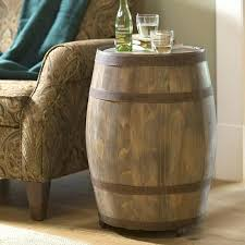 barrel end table deep creek wine barrel storage table whiskey barrel table for barrel end table