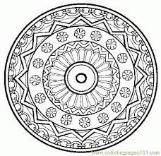 Small Picture Mandala Coloring Pages Online at Coloring Book Online