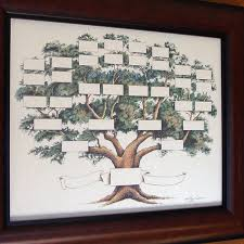 Family Tree Chart Shows 5 6 Generations On A 14x18 Inch