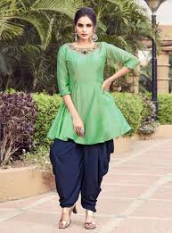 Dhoti Kurti Design For Girl Sea Green Silk Dhoti Salwar Suit 148883 Dhoti Salwar Suits