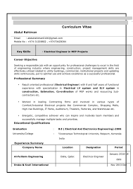 Electrical Engineering Sample Resumes Electrical Engineer Resume