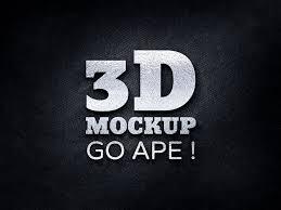 Logo Mock Up 3d Logo Free Psd Mockup Apemockups