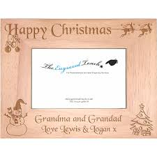 Christmas Personalised Oak Wood Wooden Photo Frame 5x7 Template 2