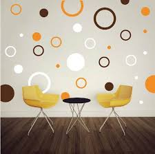 Small Picture Rings and Dots Wall Decals Trendy Wall Designs