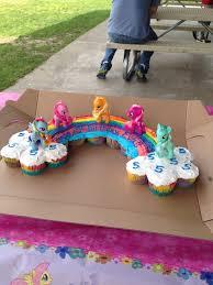 Evas Rainbow Cupcake Cake My Little Pony Evas Birthday Ideas