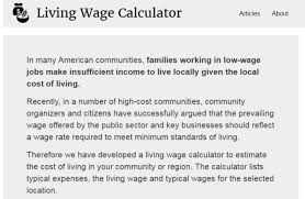 Mit Living Wage Calculator Fi Re Fellow