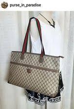 gucci vintage bags. vintage gucci tote shopper bag purse extra large gg monogram 80\u0027s authentic bags g
